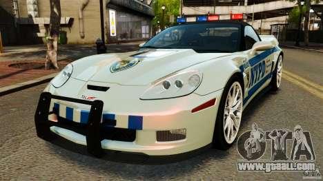 Chevrolet Corvette ZR1 Police for GTA 4