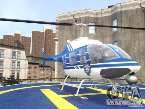Bell 206 B - NYPD for GTA 4 back view