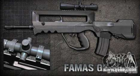 [Point Blank] Famas G2 Sniper for GTA San Andreas