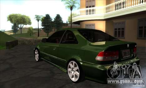 Honda Civic 1995 for GTA San Andreas back left view