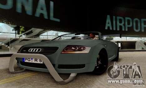 Audi TT Roadster for GTA San Andreas back view