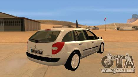 Renault Laguna II for GTA San Andreas back view