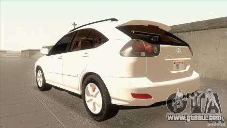 Lexus RX350 for GTA San Andreas back left view