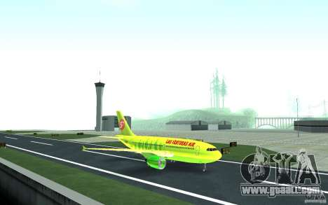 Airbus A310 S7 Airlines for GTA San Andreas left view