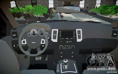 Jeep Grand Cheroke for GTA 4 upper view