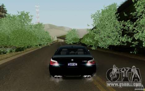 BMW M5 2009 for GTA San Andreas right view