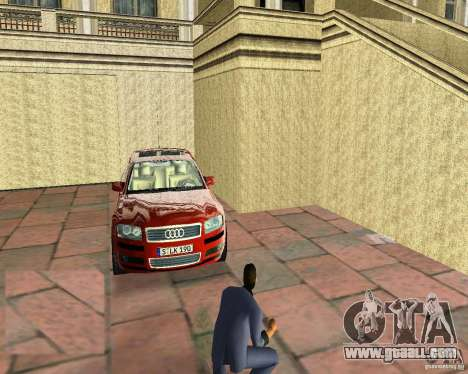 Audi A8 4.2 quattro for GTA Vice City back left view