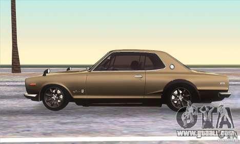 Nissan Skyline 2000 GT-R for GTA San Andreas left view