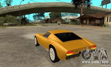 Lamborghini Miura 1966 for GTA San Andreas