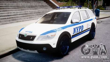 Skoda Octavia Scout NYPD [ELS] for GTA 4 inner view