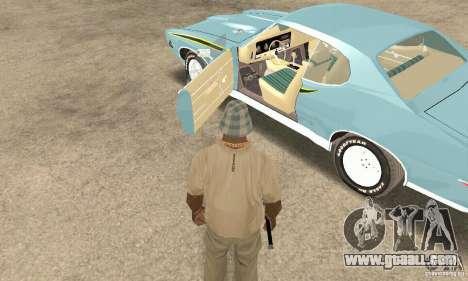 Pontiac GTO The Judge for GTA San Andreas back view