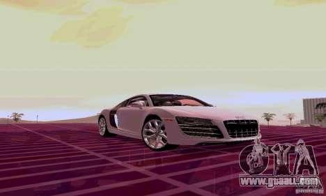 Audi R8 V10 5.2. FSI for GTA San Andreas left view