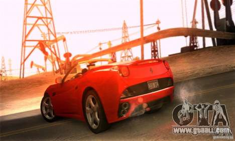 Ferrari California V3 for GTA San Andreas back left view