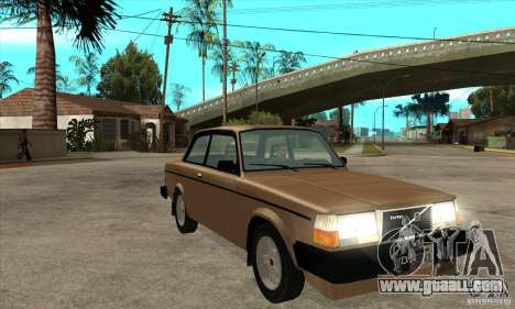 Volvo 240 Turbo for GTA San Andreas back view