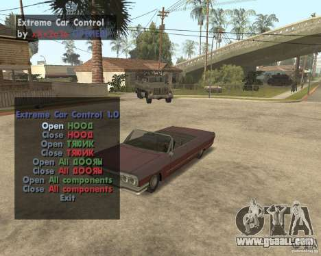 Extreme Car Mod (Single Player) for GTA San Andreas