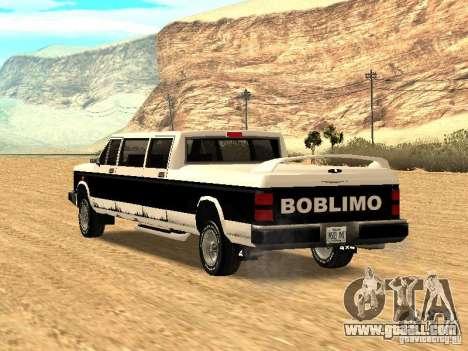 BOBCAT Limousine for GTA San Andreas left view