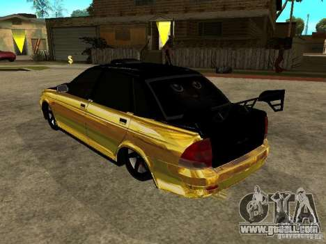Lada 2170 Priora GOLD for GTA San Andreas left view