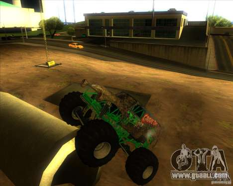 Grave Digger for GTA San Andreas right view