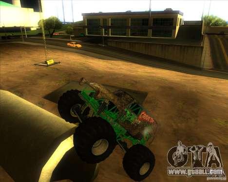 Grave Digger for GTA San Andreas right view
