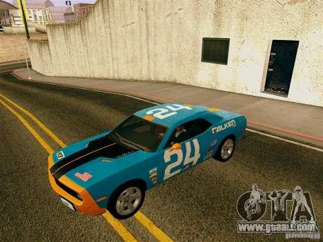 Dodge Challenger SRT8 for GTA San Andreas bottom view