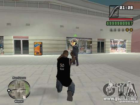 50 cent tank top for GTA San Andreas forth screenshot