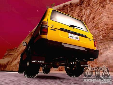 Toyota Land Cruiser 80 Off Road Rims for GTA San Andreas back left view