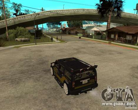 H2 HUMMER DUB LOWRIDE for GTA San Andreas left view