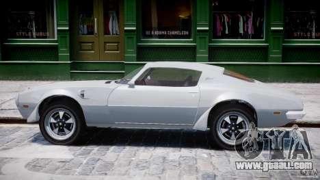 Pontiac Firebird Esprit 1971 for GTA 4 back left view