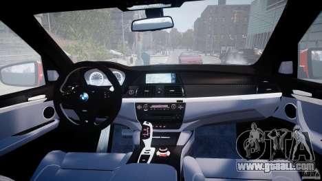 BMW X5M Chrome for GTA 4 bottom view