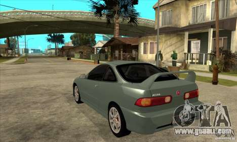 Acura Integra Type-R - Stock for GTA San Andreas back left view