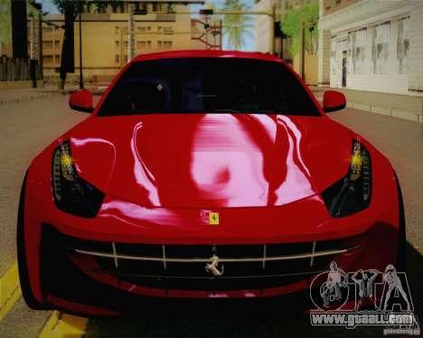 Ferrari FF Sport 2011 for GTA San Andreas back view