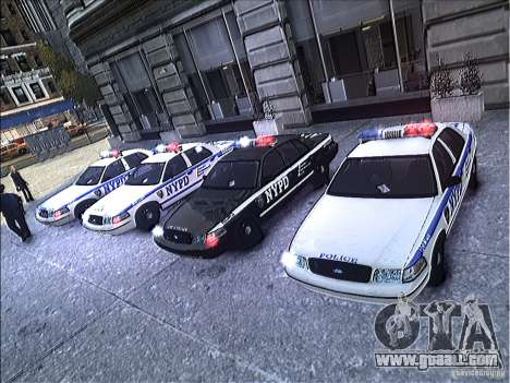 Ford Crown Victoria NYPD 2012 for GTA 4 upper view