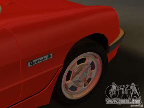 Alfa Romeo Spider 1986 for GTA Vice City back view