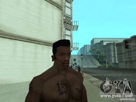 THE NEW FACE OF CJ for GTA San Andreas eighth screenshot