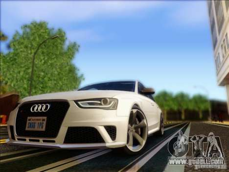Audi RS4 Avant B8 2013 for GTA San Andreas left view