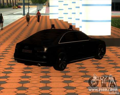 Audi A8 2010 v2.0 for GTA San Andreas inner view