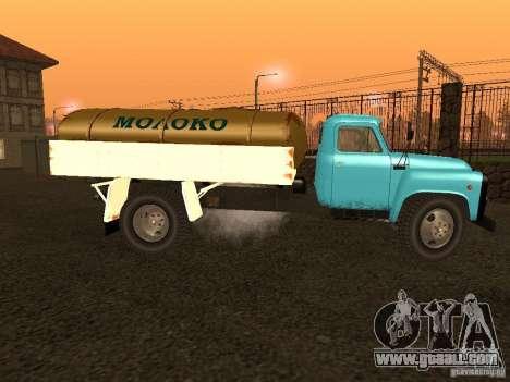 GAZ 53 milk tanker for GTA San Andreas left view