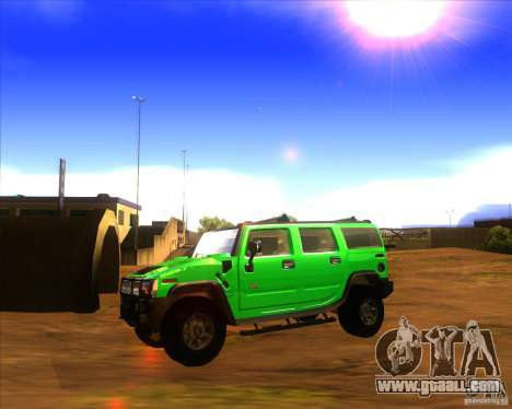 Hummer H2 updated for GTA San Andreas left view