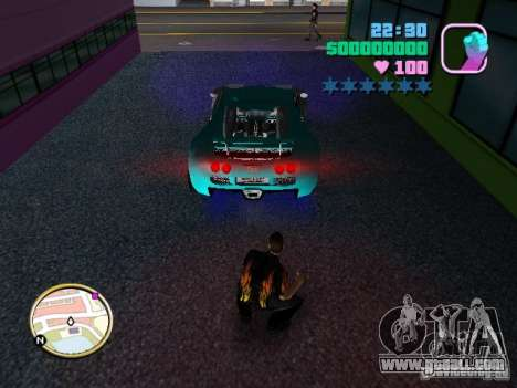 Bugatti Veyron for GTA Vice City back view