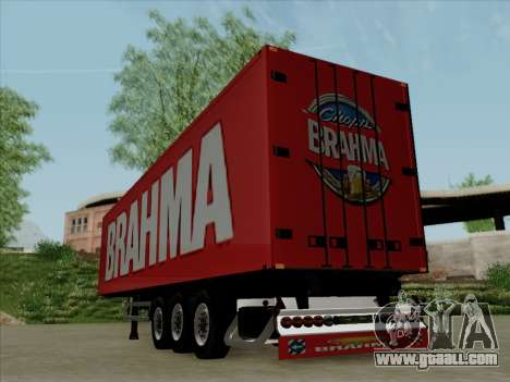 Trailer for Scania R620 Brahma for GTA San Andreas right view