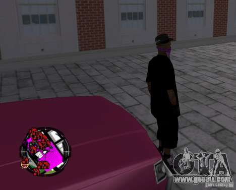 New Ballas Skin for GTA San Andreas fifth screenshot