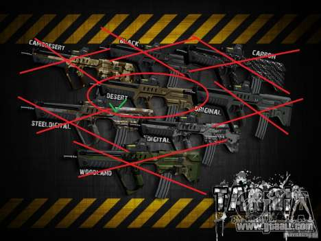 Tavor Tar-21 Desert for GTA San Andreas forth screenshot