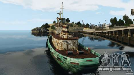Realistic Rusty Tugboat for GTA 4 back left view