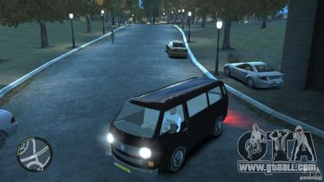 Volkswagen Transporter T3 for GTA 4 bottom view