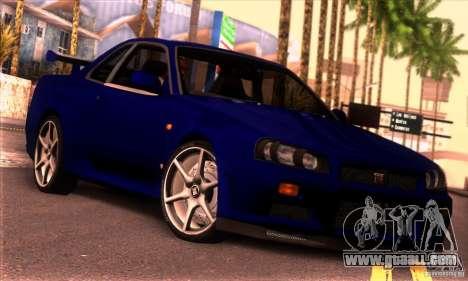 Nissan Skyline R34 GT-R Tunable for GTA San Andreas