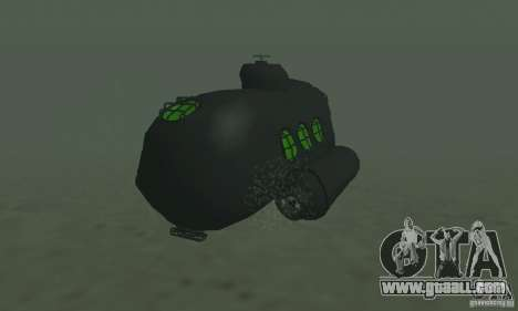 Submarine for GTA San Andreas back left view