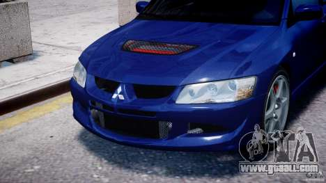 Mitsubishi Lancer Evolution VIII for GTA 4 side view