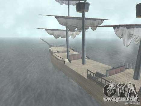 Pirate ship for GTA San Andreas second screenshot