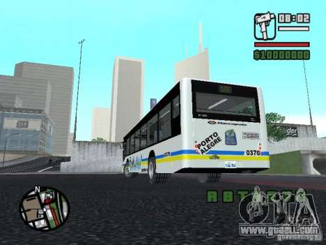 Onibus for GTA San Andreas back view