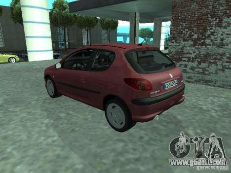 Peugeot 206 HDi 2003 for GTA San Andreas left view